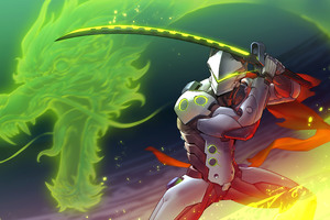 Genji Overwatch Art