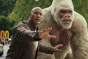 George And Davis Okoye In Rampage Wallpaper