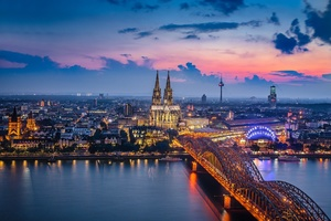 Germany Cologne Bridge Building City Wallpaper