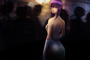 Ghost In The Shell Anime Girl Art 8k