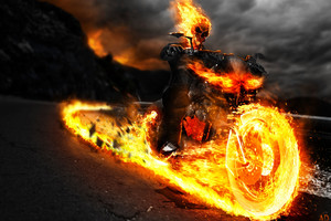 Ghost Rider On Bike Artwork