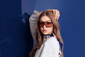 Gigi Hadid Tommy Hilfiger 4k 2018 Photoshoot Wallpaper