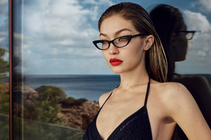 Gigi Hadid Vogue Eyewear 2018 Photoshoot Wallpaper