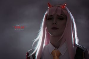 Girl School Uniform Red Devil Horns 8k Wallpaper