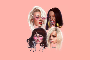 Girls Featuring Cardi B Bebe Rexha Charli Xcx Rita Ora Wallpaper