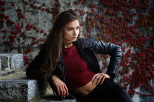 Girls Leather Jackets Wallpaper