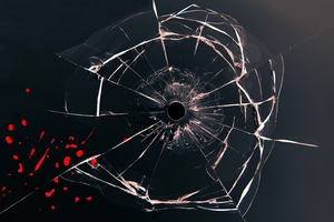 Glass Bullet Hole Wallpaper