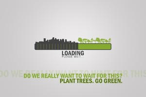 Go Green Inspirational Typography Wallpaper