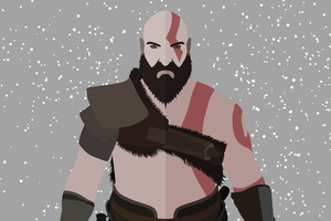 God Of War Kratos Minimalist 4k Wallpaper
