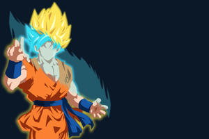 Goku Minimalist Wallpaper