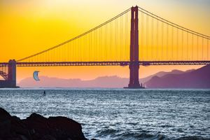 Golden Gate Bridge Dusk Time 5k
