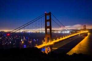 Golden Gate Nights World 5k Wallpaper