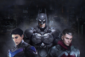 Gothams Bat Family Wallpaper
