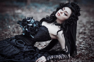 Gothic Black Bride Wallpaper