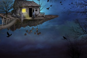 Gothic Fantasy House Wallpaper