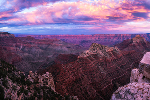 Grand Canyon Sunset Pano Wallpaper