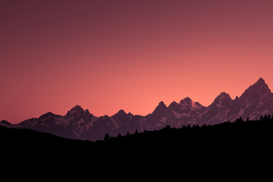 Grand Teton Sunset Wallpaper