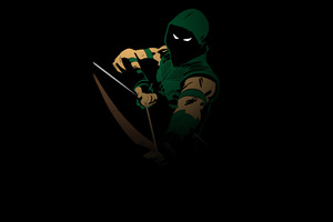 Green Arrow Minimal 4k
