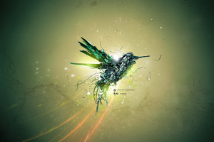 Green Bird Art