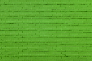 Green Bricks Wall