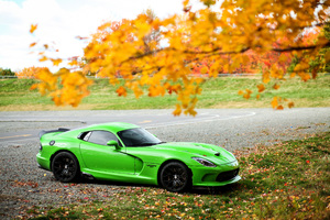 Green Dodge Viper GTC 4k Wallpaper