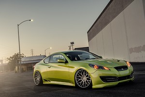 Green Hyundai Stance Genesis Wallpaper