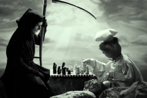 Grim Reaper In Seventh Seal Movie Wallpaper