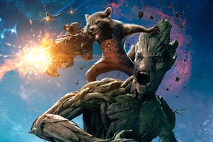 Groot And Rocket Raccoon Guardians Of The Galaxy
