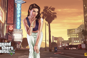 Gta 5 Loading Girl Wallpaper