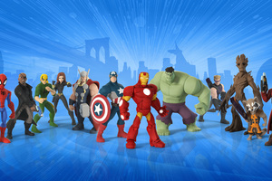 Guardians Of The Galaxy In Marvel Disney Infinity Game Wallpaper