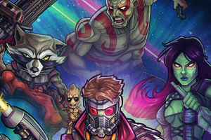 Guardians Of The Galaxy Movie Artwork