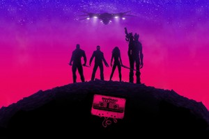 Guardians Of The Galaxy Poster Wallpaper