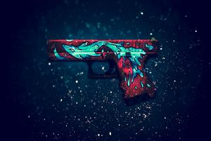 Gun Digital Art Wallpaper