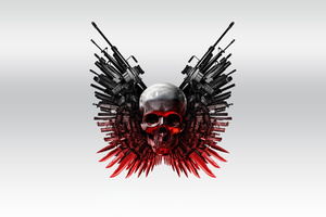 Guns And Skull Wallpaper