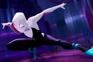 Gwen Stacy SpiderMan Into The Spider Verse Movie 4k