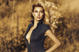 Hailey Baldwin Guess Photoshoot