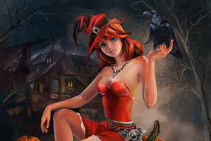 Halloween Witch Artwork Wallpaper