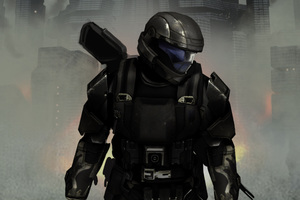 Halo 3 Odst Concept Art 4k Wallpaper