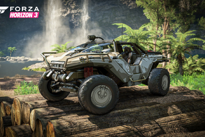 Halos Warthog in Forza Horizon 3 Wallpaper