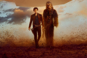 Han Solo And Chewbacca Solo A Star Wars Story Wallpaper