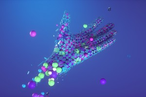 Hands Abstract Neon 5k Wallpaper