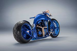 Harley Davidson Blue Edition Wallpaper