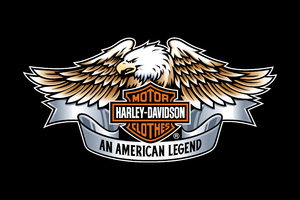 Harley Davidson Eagle Logo 4k Wallpaper