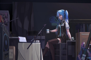 Hatsune Miku Blue Hair 5k Wallpaper