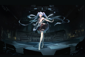 Hatsune Miku Vocaloid Anime Girl Wallpaper