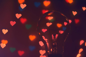 Hearts Light Bulb