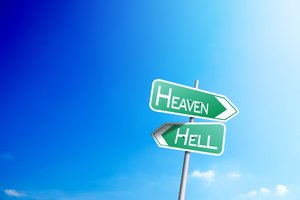 Heaven Or Hell Sign Board