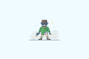 Heisenberg Minimalism Artwork Wallpaper