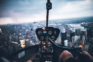 Helicopter Inside View Wallpaper