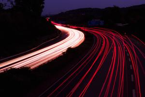 Highway Light Trails Photography 5k Wallpaper